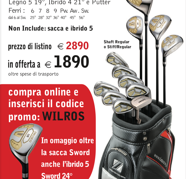 Sacca intera shaft grafite con super sconto